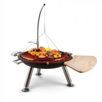 Blumfeldt Turion Galg-zwaaigrill vuurschaal BBQ houtskool kettingophanging edelstaal Ø80cm