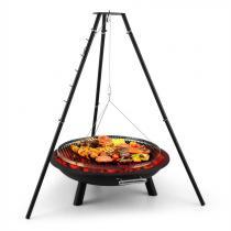 Blumfeldt Arco Trino zwaaigrill vuurschaal BBQ driepoot edelstaal