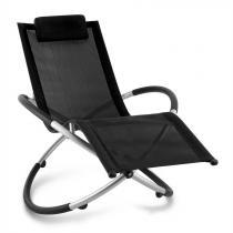 Blumfeldt Chilly Billy tuinstoel ligstoel relaxstoel aluminium zwart