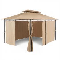 Blumfeldt Grandezza trädgårdspavillion partytält 3x4m stål polyester brun