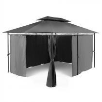 Blumfeldt Grandezza tuinpavillon partytent 3x4m staal Polyester donkergrijs