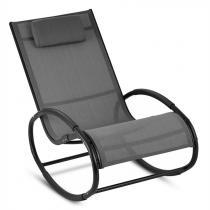 Blumfeldt Retiro schommelstoel aluminium polyester - grijs