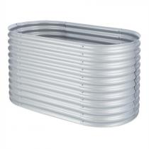 Blumfeldt High Grow Upphöjd bädd Trädgårdsbädd 1,6m Zink-Aluminium silver