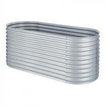 Blumfeldt High Grow Upphöjd bädd Trädgårdsbädd 2,0 m Zink-Aluminium silver