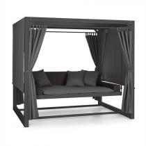 Blumfeldt Eremitage Luxus-Hollywoodgunga 236x180x210cm mörkgrå/svart