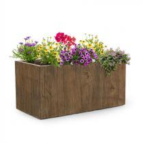 Blumfeldt Timberflor bloempot 80 x 40 x 40 cm GVK in-/outdoor bruin
