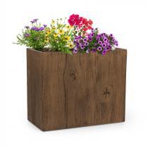 Blumfeldt Timberflor bloempot 60 x 50 x 30 cm GVK in-/outdoor bruin