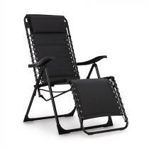 Blumfeldt California Dreaming ligstoel, bekleed, stalen frame, zwart