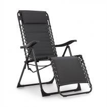 Blumfeldt California Dreaming ligstoel, bekleed, stalen frame, grijs