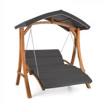 Blumfeldt Aruba hammock soltak 130cm 2-sitsig massivträ grå