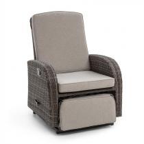Blumfeldt Comfort Siesta Luxury fåtölj ställbart ryggstöd mörkgrå
