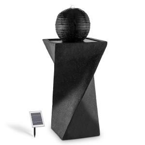 Blumfeldt Fontana a sfera solare 200 l / ora LED basalto