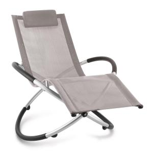 Chilly Billy Aluminium Deck Chair Lounger Taupe
