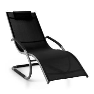Sunwave Gartenliege Liegestuhl Schwingliege Relax Aluminium schwarz