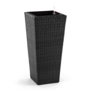 Blumfeldt Primaflor Hydro Vaso per Piante 37x76x37 cm Irrigazione Polyrattan antracite