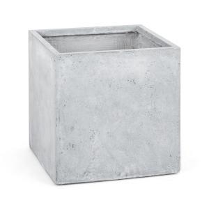 Blumfeldt Solidflor Vaso alto Vaso per piante 50x50x50 cm Fiberon grigio chiaro