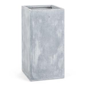 Solidflor Cubo para plantas Maceta 40x80x40 cm gris claro