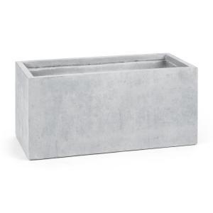 Solidflor Cubo para plantas Maceta 99x46x46 cm gris claro