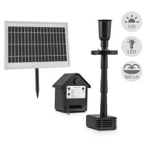 Wasserwerk 500 Wasserpumpe Solar Springbrunnen 500 l/h LED Akku
