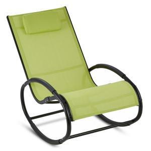 Retiro Fauteuil à bascule Rocking chair aluminium & polyester - vert