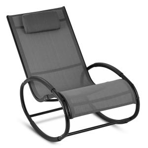 Retiro Swinging Rocking Armchair Aluminum Polyester grey