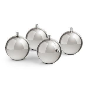 Quattrosfera 4 bolas de fuego fuego de acero inoxidable para mesa chim