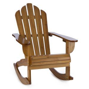 Blumfeldt Rushmore Chaise à bascule style adirondack 71 x 95 x 105 - marron