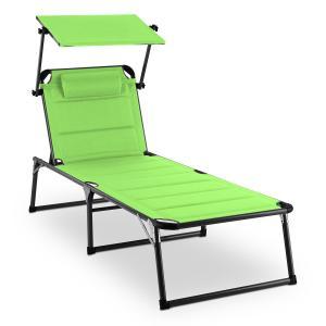 Blumfeldt Amalfi Juicy Lime Chaise longue 70x37x200cm Pare-soleil -vert