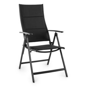 Stylo Royal Black Garden Chair Folding Chair Aluminium Black