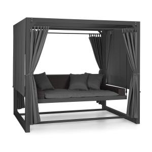 Eremitage Luxury Bench Swing 236x180x210cm Dark Grey / Black