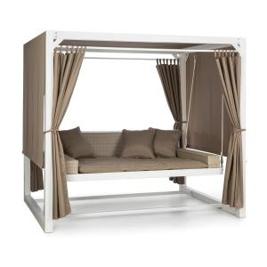 Eremitage Luxury Bench Swing 236x180x210cm White / Taupe