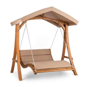 Bermuda Hollywoodschaukel Gartenschaukel 130 cm 2-Sitzer Sonnensegel