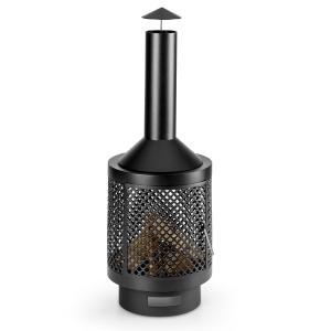 Blumfeldt Essos Poêle à bois jardin terrasse foyer Ø 45 cm Grillage tôle acier -