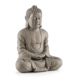 Siddhartha Sculpture jardin 60cm ciment & fibre de verre aspect pierre