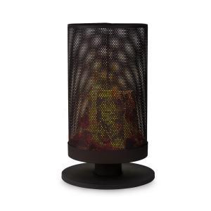 Ithaka Feuerschale Feuerkorb | Feuerkorb aus Stahl | stabiler Stand | ideal für Schwedenfeuer | inklusive Ständer | einfach zu bewegen | schwarz