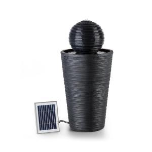 Liquitorre Gartenbrunnen Wasserspiel Solarbrunnen | Pumpe: 200 l/h / IPX8 | Solarpanel: 2 W / 300 cm² Photovoltaikoberfläche | Akku: bis 8 h Betriebszeit / 3,7 V / 2 Ah | Outdoor | sparsam & unabhängig vom Stromnetz | LED-Stimmungslicht | Polyresin