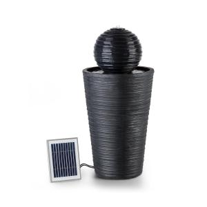 Blumfeldt Liquitorre fuente solar 200l/h panel solar 2W batería LED polirresina