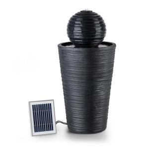 Liquitorre XL Gartenbrunnen Wasserspiel Solarbrunnen | Pumpe: 200 l/h / IPX8 | Solarpanel: 2 W / 300 cm² Photovoltaikoberfläche | Akku: bis 8 h Betriebszeit / 3,7 V / 2 Ah | Outdoor | unabhängig vom Stromnetz | LED-Stimmungslicht: 4 x Weiß | Polyresin