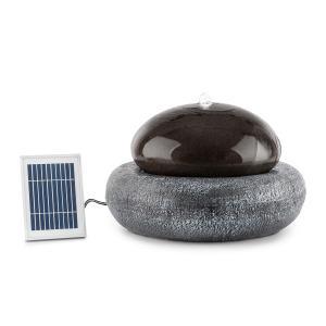 Ocean Planet Gartenbrunnen Wasserspiel Solarbrunnen | Pumpe: 200 l/h / IPX8 | Solarpanel: 2 W / 300 cm² Photovoltaikoberfläche | Akku: bis 8 h Betriebszeit | Outdoor | Sunriver Technology: sparsam unabhängig vom Stromnetz | LED-Stimmungslicht | Polyresin