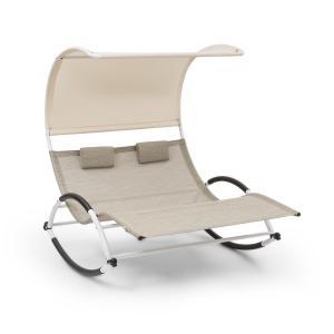 Blumfeldt Brentwood Double Rocker Chaise longue à bascule 2 personnes