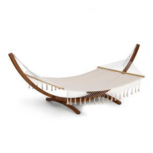 Blumfeldt Bali TAS Swing Hamac 200x 150cm cadre bois de mélèze charge 160kg