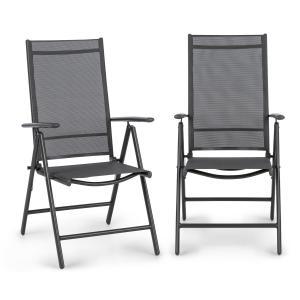 Blumfeldt Almeria set da 2 sedie pieghevoli 59,5 x 107 x 68 cm ComfortMesh antracite