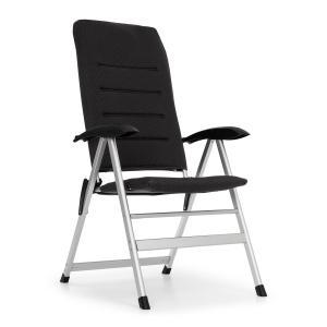 Almagro Garden Chair Gartenstuhl | 6-fach verstellbare Rückenlehne | Comfort Foam mit 2 cm Schaumstoffpolster | Beine aus Aluminium |  zusammenfaltbar | schwarz