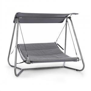 Garden Grove Schwingliege Swing Bed | pulverbeschichteter Stahlrahmen | Liegefläche mit waschbarem Bezug | 6 cm hohe Polsterung | großflächiges Sonnendach: 180G Polyester | Schrauben aus Edelstahl | Maße Liegefläche: 148 x 200 cm (BxT) | anthrazit