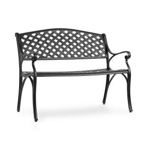 Pozzilli BL Gartenbank | Material: Aluminiumguss | witterungsbeständig | Platz für 2 Personen | separat erhältliches Sitzkissen | schwarz