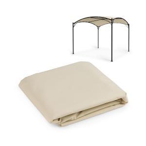 Castello Pergola-Sonnendach | Größe: 350 x 350 cm (BxT) |  Sonnendach aus 250G Polyester | Schutz vor Sonne & Regen: wasser- und UV-abweisend | FlexMood Concept: austauschbares Dach | beige