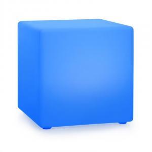 Blumfeldt Shinecube XL Cube lumineux 16 couleurs LED 4 modes d'éclairage blanc