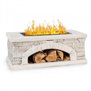 Blumfeldt Matera Fire Bowl 50.5x26.5cm Artificial Stone Steel Black / Stone Look