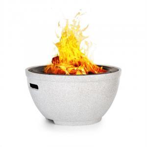 Blumfeldt Syrakus Fire Bowl Ø37cm Artificial Stone Steel Black / Stone Look