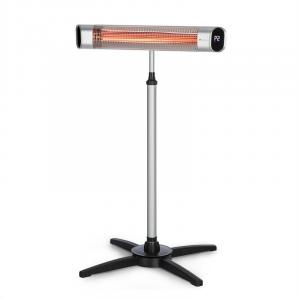 Blumfeldt Dark Wave Stand Infrared Heater 2000W IP65 Base Silver